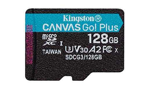 Kingston SDCG3 128GBSP Tarjeta microSD ( 128GB microSDXC Canvas Go Plus 170R A2 U3 V30 Sin SD adaptador)