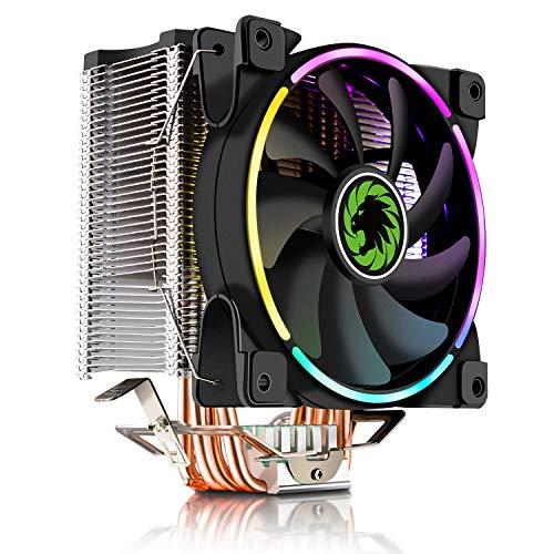 GAMEMAX GAMMA-500-RAINBOW - Ventilador para CPU (120 mm, 4 Tubos de Calor de Cobre)