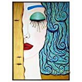 YIYEBAOFU DIY Pintar por números Affresco Astratto al 100% sulle Lacrime di Un Artista Classico, utilizzato in soggiorno40x60cm(Nessuna Cornice)