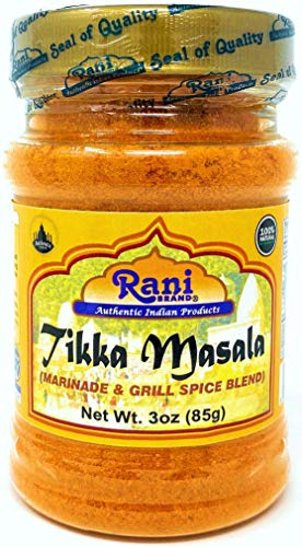 Rani Tikka Masala Indian 7-Spice Blend 3oz (85g) ~ All Natural, Salt-Free | Vegan | No Colors | Gluten Free Ingredients | NON-GMO
