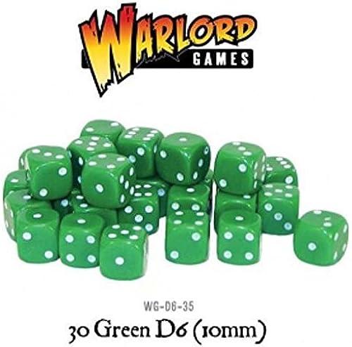 tienda en linea Dice - 30 verde D6 10mm 10mm 10mm by Warlord Games  los últimos modelos
