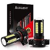 AUXLIGHT 2504 PSX24W 12276 LED Fog Light Bulbs 6000K Xenon White, Super Bright 2800 Lumens 33-SMD Chips LED Daytime Running Lights DRL Bulbs Replacement for Cars, Trucks (Pack of 2)