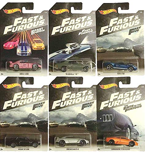 Mattel, Fast & Furious Auto Die Cast 1:64, Multicolore, MT-FKF06, Modelli assortiti, 1 Unit