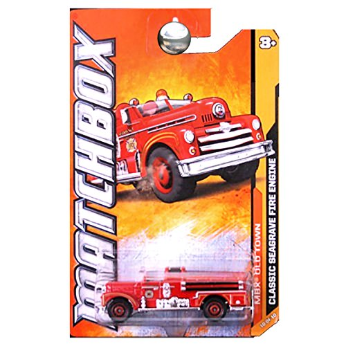 Matchbox 2012 MBX Old Town Classic Seagrave Fire Engine Truck Red