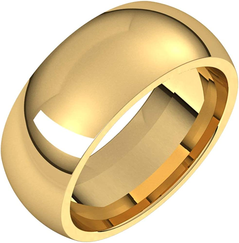 14k Yellow Gold 8mm Comfort Spring famous new work Fit Size Ring Bridal Band 1 Wedding