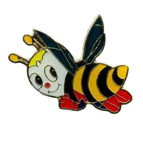 Biene Honigbiene Maja Honey Bee Badge - Edler Metall Button Pin Anstecker 0636