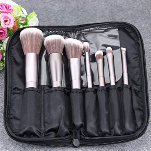 Make Up Brush Foundation - Blending blanc liquide, crème ou poudre Flawless Cosmetics lustrage, Stippling, Correcteur Premium Quality Dense synthétique,Noir