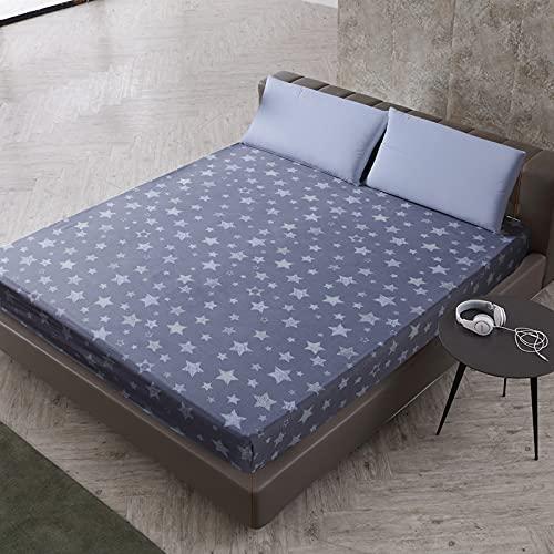 NTtie Protector de colchón Transpirable.Rizo Bambú. Cubierta Protectora Que no se decolora con impresión de poliéster