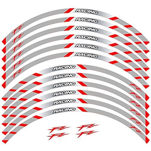 Frente + Rueda Trasera llanta Exterior Reflectante Etiquetas engomadas Impermeables Stripalas para Yamaha FZ1 FZ6 Fazer FZ8 FZ07 FZ09 FZ10 (Color : Style 10)