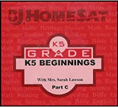 Kindergarten Grade K5 Beginnings - Part C (Incorporate English Skills, Building a Strong Phonics Framework with Songs, Charts, and Activities in a Balanced Approach That Emphasizes Word Meaning) [Multiple DVDs] (BJ HomeSAT Distance Learning)