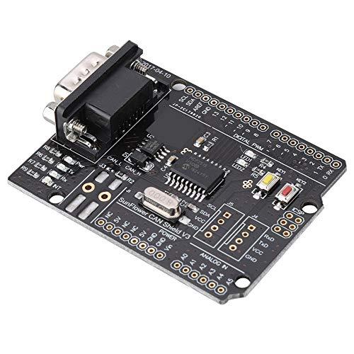 Hakeeta CAN-Bus Shield MCP2515, Unterstützung für Erweiterungsplatine Für CAN2.0-Protokoll, 4,8-5,2 V, hohe Geschwindigkeit, hohe Effizienz, mit Kontaktstift, mit LED-Anzeige