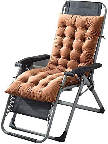 Mirui Garten Innenhof Stuhlkissen Travel Holiday Garden Indoor Outdoor Lounge Chair Cushion Keine Stühle (Color : Brown, Size : 130x50x10cm)