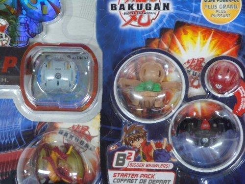 "Bakugan Brawler B2 Subterra Hammer Gorem 530g, Darkus Ravenoid 410g, Pyrus Mystery Marble, 2"" Dragonoid Figure With Haos Hylash Trap Including Multiple Gate Ability Cards"