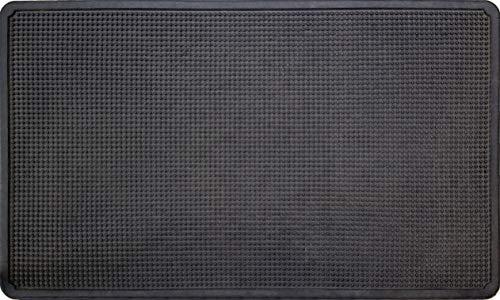 ID Mat M42 Picots Tapis Paillasson Caoutchouc Noir 75 x 45 x 1,2 cm