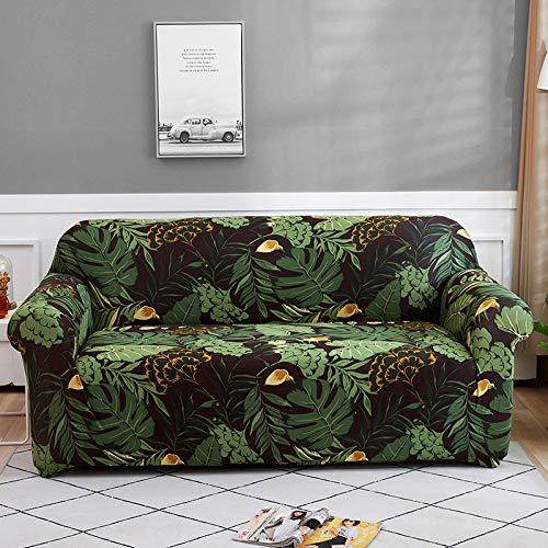 WXQY Funda de sofá de Flores Sala de Estar elástica con Todo Incluido Funda de sofá Chaise Longue sección Moderna Funda de sofá de Esquina Funda de Silla A32 4 plazas