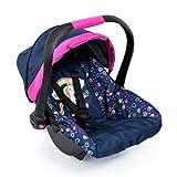 Bayer Design 67917Ab, Silla de Coche Para Muñeca Easy Go, Accesorios, Asiento Para Bebé Muñecos Comel Cinturón, Azul, Rosa Comúnico Rnio y Corazones