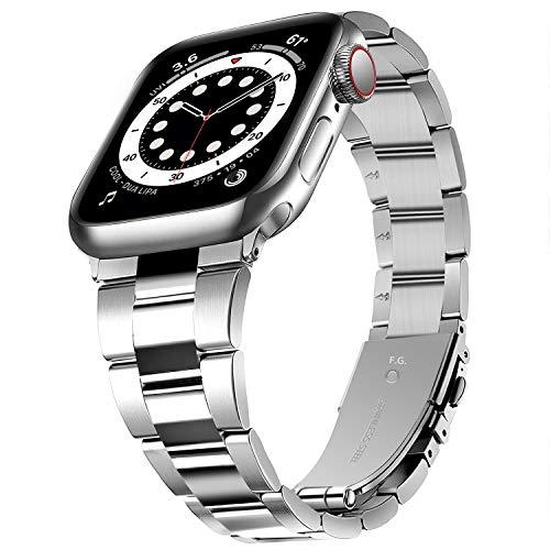 Fullmosa Cinturino Orologio Compatibile con iWatch 38mm 40mm, Cinturino di Ricambio 42mm 44mm in Acciaio Inossidabile Rimovibile Senza Attrezzi, Applicabile alla serie Apple Watch SE serie 6/5/4/3/2/1