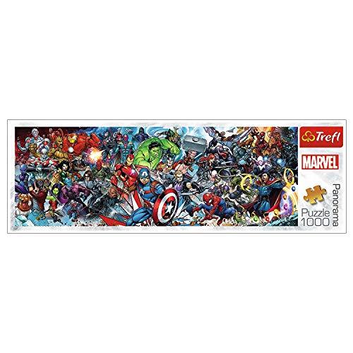 Trefl 29047 Puzzle, Tritt dem Marvel-Universum bei, 1000 Teile, Panorama, Disney Marvel, für Kinder ab 12 Jahren