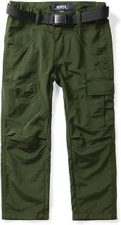 Phorecys Pantalones de safari para niños, de secado rápido, con bolsillos con cremallera, 3 a 15 años