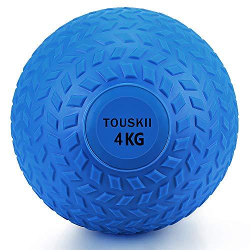 TOUSKII メディシンボール 筋力トレーニング 2~10kg スラムボール エクササイズ(4�s/青)