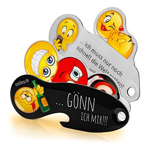 Smilkey Set NEW 4 Stück, Code24 Einkaufswagenlöser, Schlüsselanhänger mit Einkaufschip & Schlüsselfinder, inkl. Registriercode für Schlüsselfundservice, multifunktionale Einkaufswagenchips