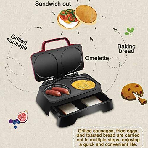 HKDJ-3-in-1 ontbijtmachine, elektrische sandwich fabrikant tool, huishouden spiegeleier steak hamburger broodrooster 28 * 22,5 * 9,5 cm