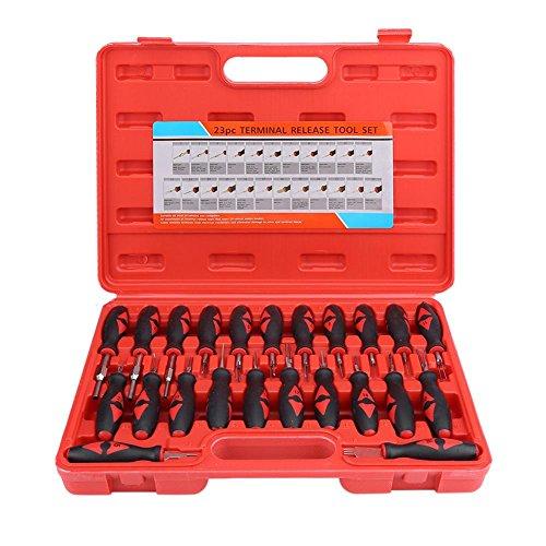 TKSE Juego de destornilladores, destornillador, 23 piezas Kit de herramientas de extracción de liberación de terminal automotriz universal