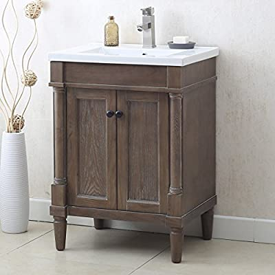 """Legion Furniture WLF7021-24 24"""" WEATHERED GRAY SINK VANITY, NO FAUCET"""