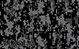 JQSLA Digital Black Gray Camouflage Premium Vinyl Car Wrap Decal Film Sheet Air Channel Release Technology + Free Tool Kit (96' x 60' / 8FT x 5FT)