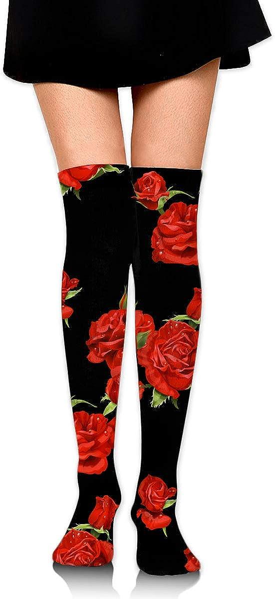 Women Girls Compression Socks Crew Dress Socks Thermal Socks for Gym Football