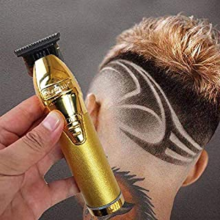 TimiCare Cordless Electric Gold Hair Clippers For Men Rechargeable Hair Cutting Machine Professional Beard Barber Hair Tri...