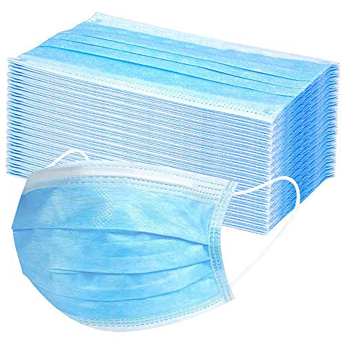 Hoco - 50 pezzi monouso formato per viso libero, colore: blu