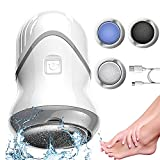 Electric Foot Callus Remover,Portable Rechargeable Foot Grinder Electronic Vacuum Adsorption Foot File for Dead Hard Cracked Dry Skin,with 3 Grinding Heads,2 Speed,Washable