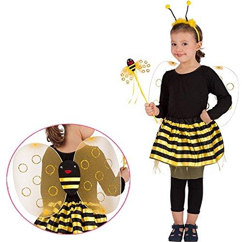 LCN Costume Fee Abeille Enfant 3 à 6 ans - Deguisement Anniversaire Fete - 789
