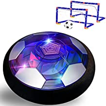 W Q Kids Toys Hover Soccer Ball Set, Rechargeable Air Soccer with LED Lights and Foam Bumpers, Gifts for Boys Girls 3-16 Year Old, Hover Toys Inflatable Ball for Indoor Outdoor Games