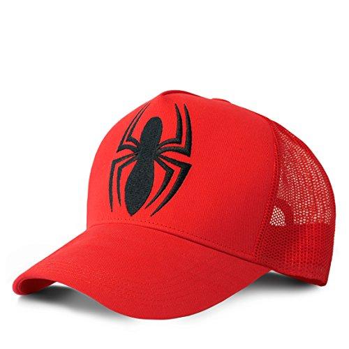 Logoshirt Marvel Comics - Superheld - Spiderman Logo Kinder Trucker Cap - Kappe - Bestickt - rot - Lizenziertes Originaldesign