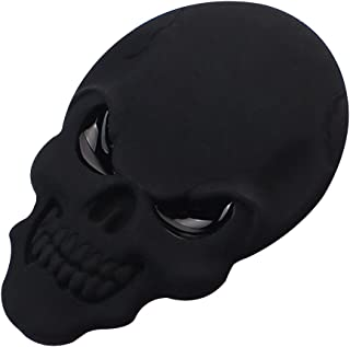 Baiyu 3D Skull Alloy Metal Car Motorcycle Sticker Skeleton Bone Emblem Badge Decal Car Styling Accessories Size 3.4x5cm