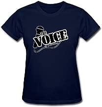 Tommery Women's The Voice Logo Design Short Cotton T Shirt