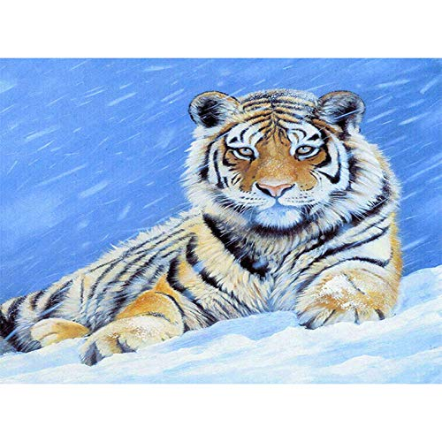 LWCOTTAGE 5D FAI Da Te Diamante Pittura,Taladro Cuadrado DIY Diamante Pintura Cross Ctitch Kits 5D Diamante Mosaico Bordado Paisaje Animal Color Pintura, 8,20X30Cm Taladro Cuadrado