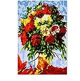 kdbshfm Un Bouquet de Fleurs Peony Rose Festival de Tournesol Peinture numérique colorier Son Cadeau de peintures a créé Leur Propre Main-avec encadré