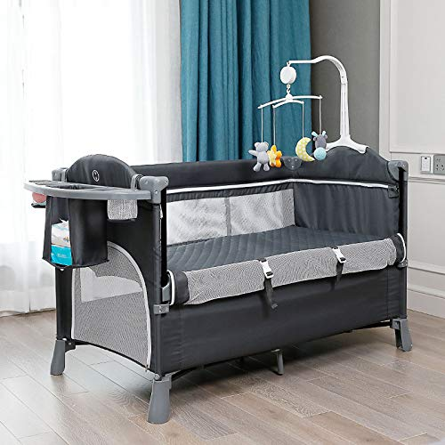 For Sale! XBD Splicing Large Bed Multi-Functional Portable Newborn Baby Bedside Bed Bed Baby Folding...