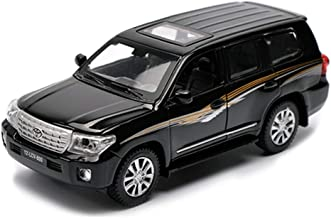 JPVGIA Car Model Car 1:24 Toyo-ta Land Cruiser SUV Simulation Alloy Die-Casting Toy Ornaments Sports Car Collection Jewelry 20x8x7CM (Color : Black)