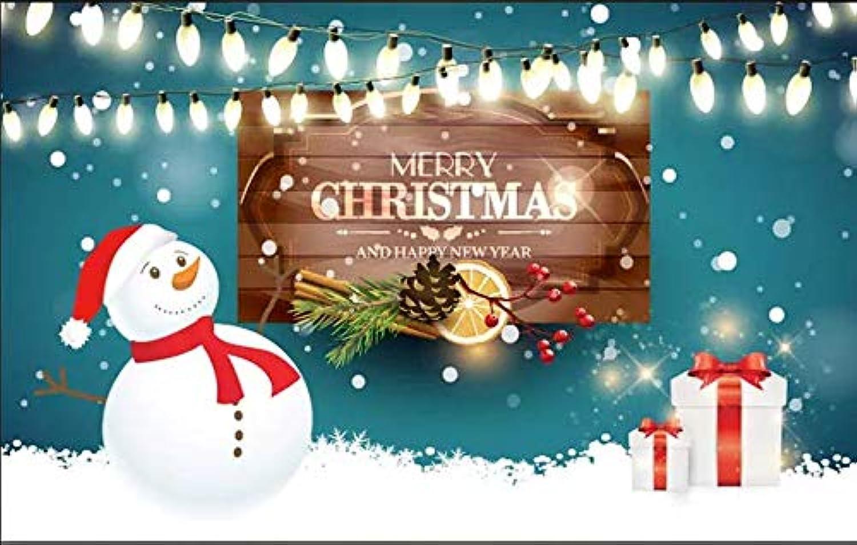 oferta de tienda LONGYUCHEN Papel Tapiz Mural 3D 3D 3D Personalizado Series De Navidad Hermoso Mueco De Nieve Navideo Adecuado Para Sala De Estar Cafetería Discoteca Ktv Decoración Mural De Seda,60Cm(H)×120Cm(W)  tienda hace compras y ventas