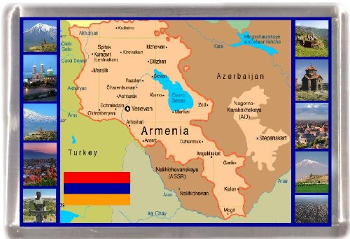 Kühlschrankmagnet Armenien Landkarte Geschenk Tourist Souvenir