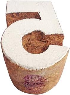 ختم خشبي للأرقام للطباعة بلوك, خشب, بني, TOtag006