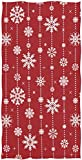 Wamika Christmas Snowflakes Hand Towels Winter Xmas Snow Bathroom Towel Ultra Soft Highly Absorbent Bath Towels for Face,Gym,Spa,16 X 30 Inch