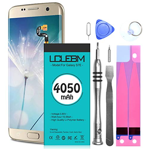 Galaxy S7 Edge Battery [4050mAh] S7 Edge Battery LCLEBM New 0 Cycle Battery Replacement for Samsung Galaxy S7 Edge G935V G935P G935A G935T S7 Edge Battery Replacement with New Replacement Kits