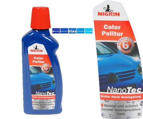 Nigrin NanoTec Color Auto Politur 3in1 Politur,Versiegelung,Glanz (Blau)