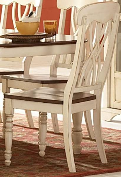 Homelegance Ohana Side Chair Set Of 2 Antique White