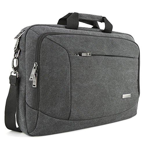 """Borsa Messaggero Laptop, Evecase Custodia di Tela per Computer, Notebook, PC, Computer Portatile Modelli Popolari fino a 15.6"""" - Nero"""